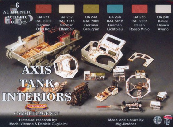 Lifecolor German and Italian (Axis) interior tanks colors