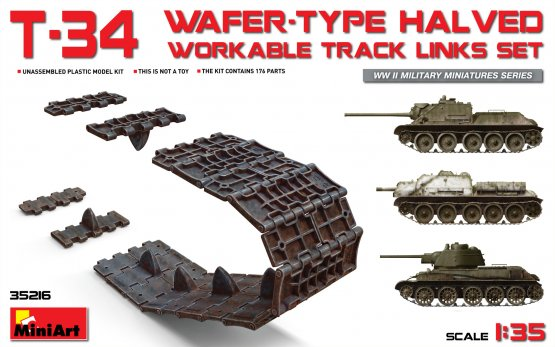 MiniArt T-34 workable track links (Wafer Typ) 1:35