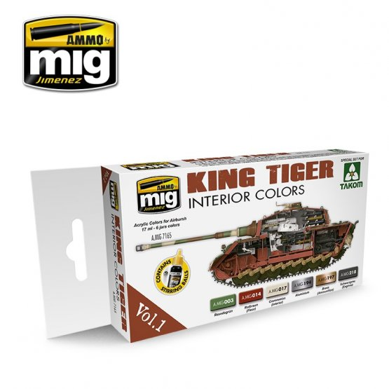AMMO of MIG - German King Tiger Interior Colors Set Vol.1