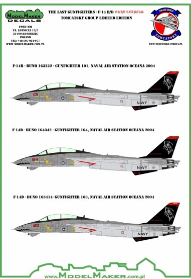 F-14 B/D GRIM REAPERS - The Last Gunfighters 1:48