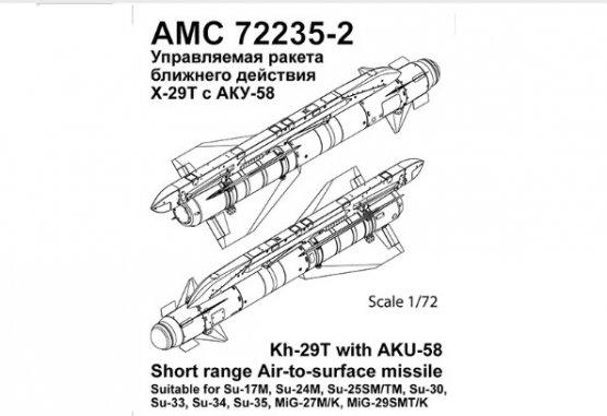 Advanced modeling Kh-29T with AKU-58 1:72