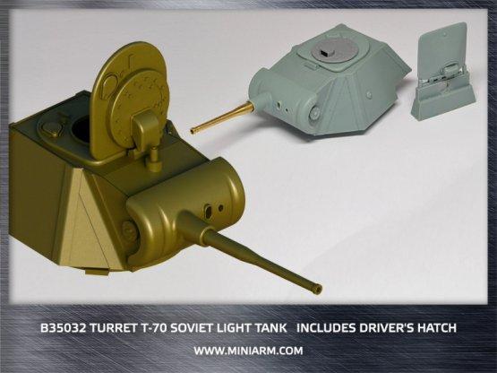 Miniarm T-70 turret 1:35