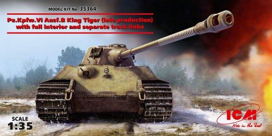 ICM Pz.Kpfw.VI Ausf.B King Tiger (late prod.) with interior 1:35
