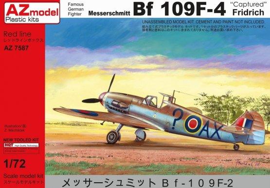 AZmodel Messerschmitt Bf 109F-4 - Captured 1:72