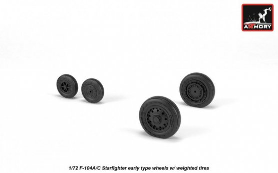 Armory F-104A/C Starfighter early type wheels 1:72