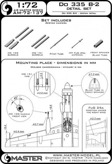 Master Do 335B-2 detail set 1:72