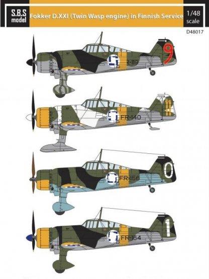 Fokker D XXI (Twin-Wasp engine) in Finnish Service 1:48