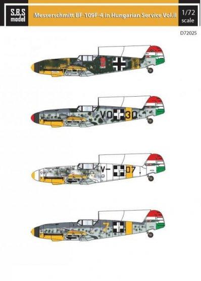 Bf 109F in Hungarian Service VOL. II 1:72