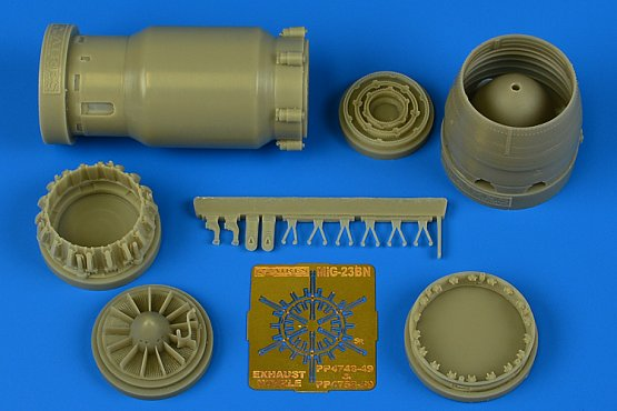 MiG-23BN early exhaust nozzle - opened 1:48