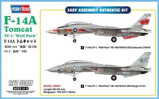 F-14A Tomcat - VF-1 Wolf Pack 1:72