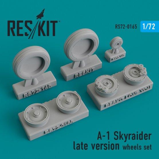 A-1 Skyraider late version wheels set 1:72