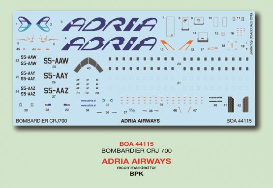 Bombardier ERJ-700 - Adria Airways 1:144