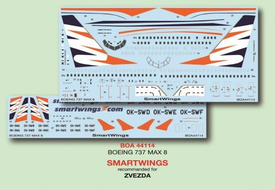 Boeing 737 MAX 8 - SmartWings 1:144