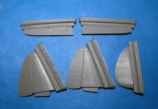 MiG-3 control surfaces for Trumpeter 1:48