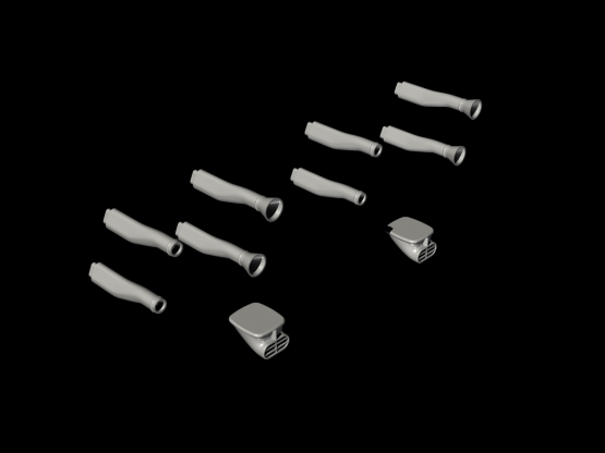 Blenheim Mk. I Engine Intakes for Airfix 1:48