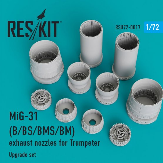 MiG-31B/BS/BM/BMS exhaust nozzles for Trumpeter 1:72