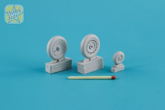 Fw 190 A/F/G/D wheels, late Continental tire 1:48