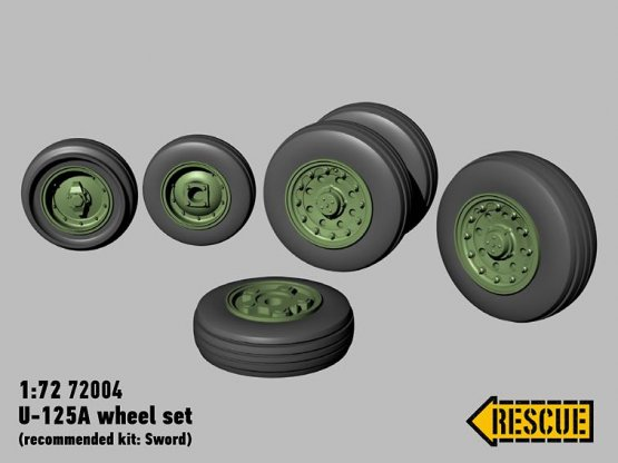 U-125A wheel set for Sword 1:72