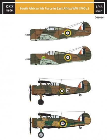 South African Air Force in East Africa WW II VOL.I 1:48