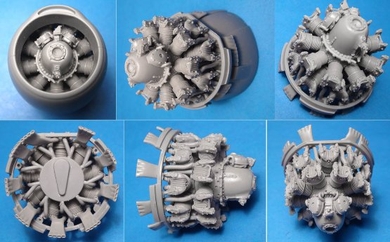 A-26B/C Invader engines for ICM 1:48