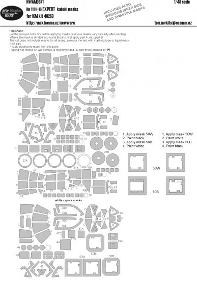 He 111H-16 EXPERT mask for ICM 1:48