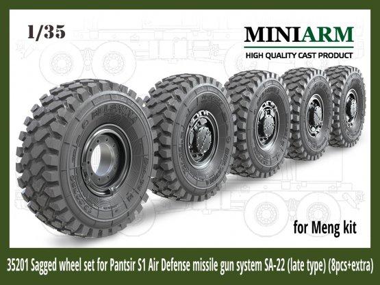Pantsir S1 SA-22 wheel set (late type) 1:35
