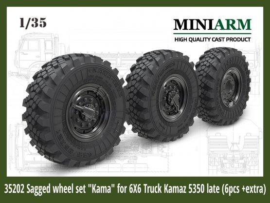 Kamaz-5350 wheel set Kama late 1:35