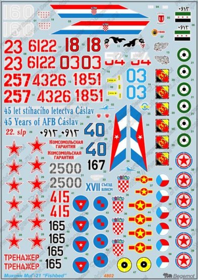 MiG-21 Fishbed decal 1:48