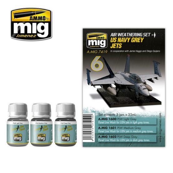 AMMO of MiG - US Navy Grey Jets - Weathering Set