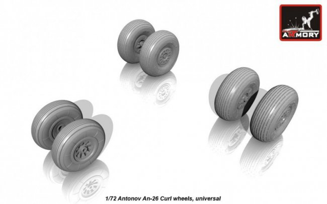 Armory Antonov An-26 Curl weighted wheels 1:72