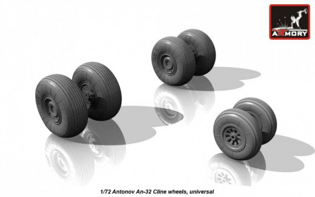 Armory Antonov An-32 Cline weighted wheels 1:72