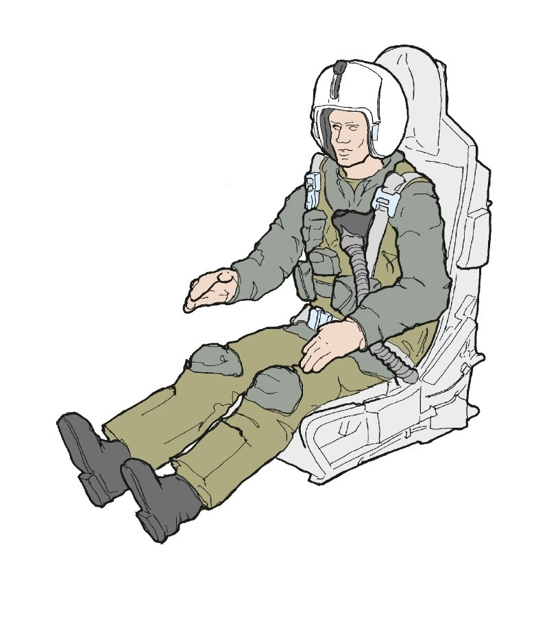 usaf fighter pilot with ejection seat for f100cd 148