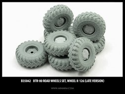 BTR-80 wheels set K-126 (late version) 1:35