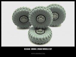 BRDM-2 Wheels set 1:35