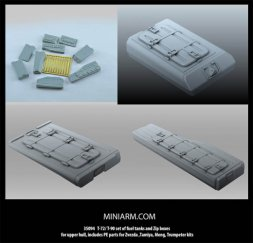 T-72/ T-90 fuel tanks and Zip boxes for upper hull 1:35