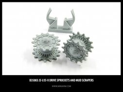 Miniarm IS-I/ IS-II Drive Sprockets and Mud Scrapers 1:35