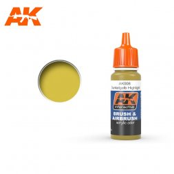 AK Interactive AK008 - Dunkelgelb High Light - 17ml