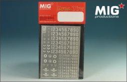MIG Soviet Postwar Numbers and simbols 1:35