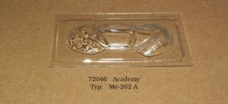 Me-262A vacu canopy for Academy 1:72