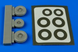 A-37 wheels & paint masks for Trumpeter 1:48