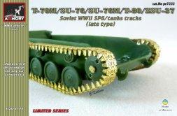 Armory T-70M/SU-76/T-80/ZSU-37 Soviet WWII tanks tracks 1:72