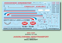 Boein 737-300 - JUGOSLOVENSKI AEROTRANSPORT 1:144