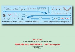 Canadair CL-604 - Republika Hrvatska VIP Transport 1:144