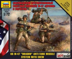 U.S. AT Launcher M-47  Dragon with Crew 1:72