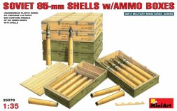 Soviet 85mm Shells with Ammo Boxes 1:35
