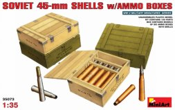 Soviet 45mm Shells with Ammo Boxes 1:35