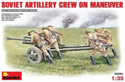 MiniArt Soviet Artillery Crew on Maneuver w/ ZiS-3 1:35