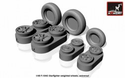 F-104G Starfighter weighted wheels 1:48