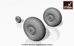deHavilland DH.98 Mosquito weighted wheels 1:72