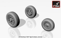 Armory F-5E/F Tiger-II wheels 1:72
